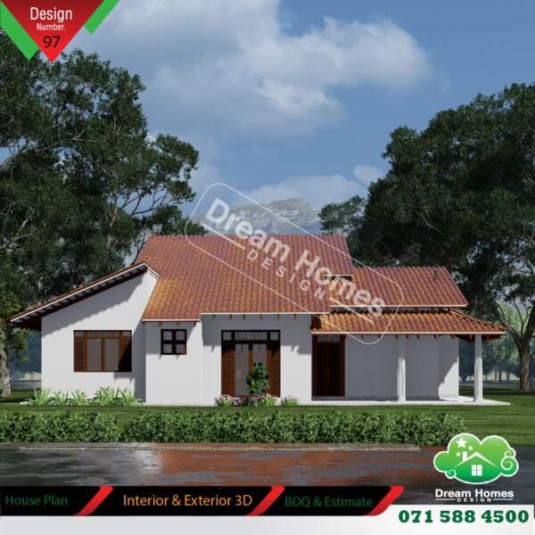 2 bed room house plan